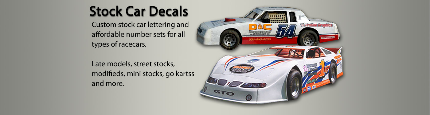 stock car decals and numbers